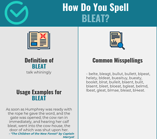 Correct spelling for bleat
