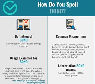 Correct spelling for bond