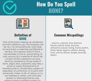 Correct spelling for bone