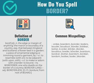 Correct spelling for border