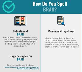 Correct spelling for bran