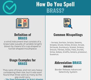 Correct spelling for brass