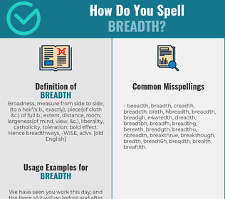 Correct spelling for breadth