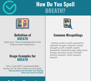 Correct spelling for breath