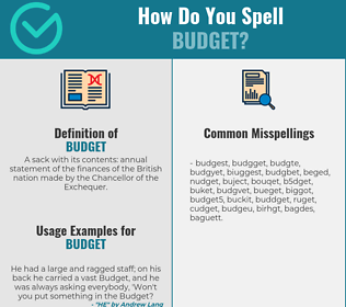 Correct spelling for budget