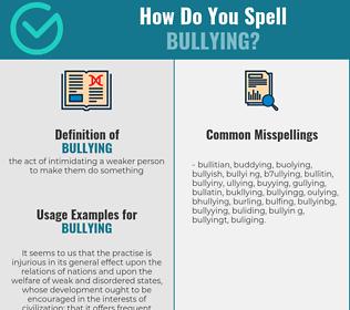 Correct spelling for bullying