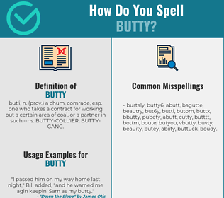 Correct spelling for butty