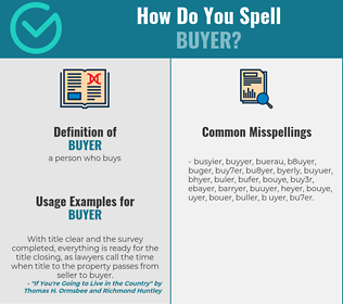 Correct spelling for buyer