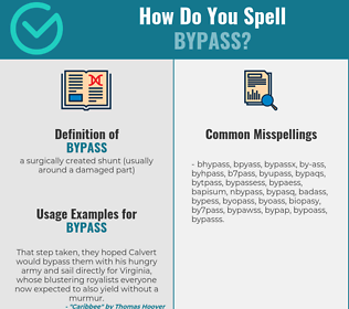 Correct spelling for bypass