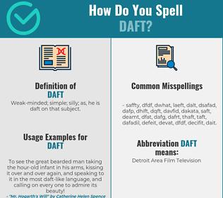 Correct spelling for daft