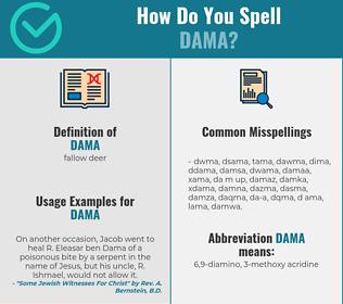Correct spelling for dama