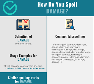 Correct spelling for damage