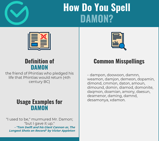 Correct spelling for damon