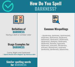 Correct spelling for darkness