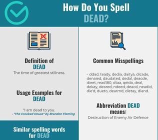 Correct spelling for dead