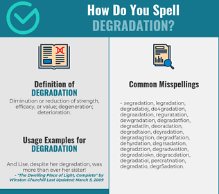 Correct spelling for degradation