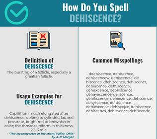 Correct spelling for dehiscence