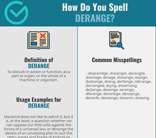 Correct spelling for derange
