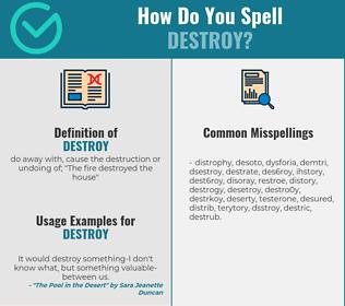 Correct spelling for destroy