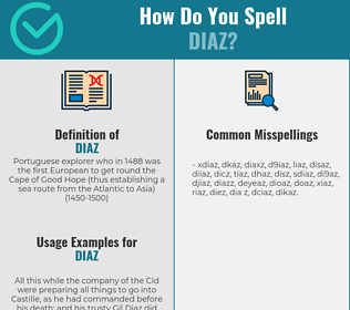 Correct spelling for diaz