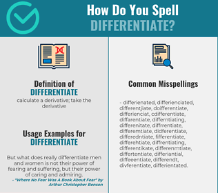 Correct spelling for differentiate