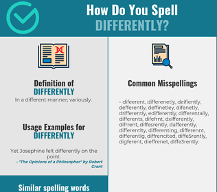 Correct spelling for differently