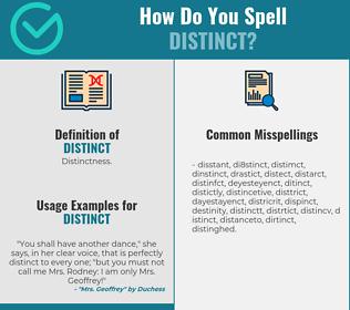 Correct spelling for distinct