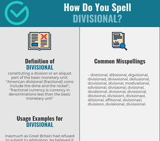 Correct spelling for divisional