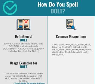 Correct spelling for dolt