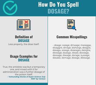 Correct spelling for dosage