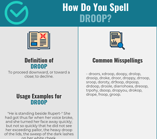 Correct spelling for droop