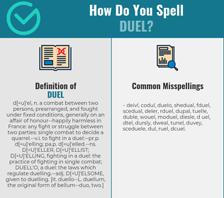 Correct spelling for duel