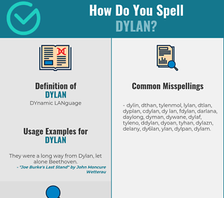 Correct spelling for dylan