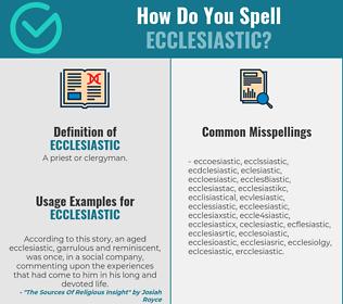 Correct spelling for ecclesiastic