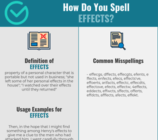 Correct spelling for effects
