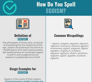 Correct spelling for egoism