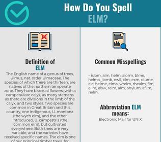 Correct spelling for elm