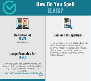 Correct spelling for elves