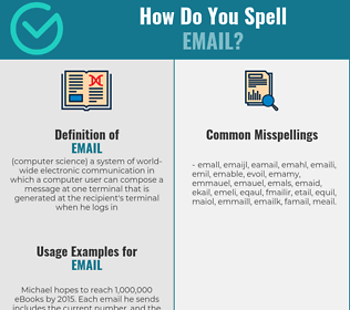 Correct spelling for email
