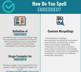 Correct spelling for embedded