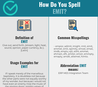 Correct spelling for emit