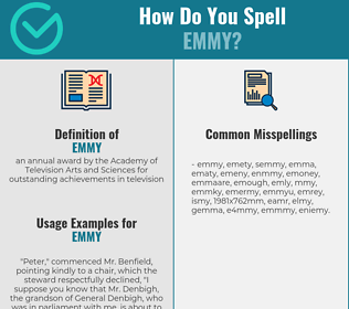 Correct spelling for emmy