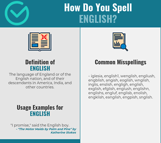 Correct spelling for english