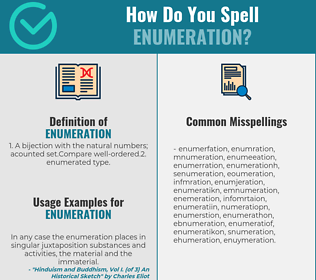 Correct spelling for enumeration