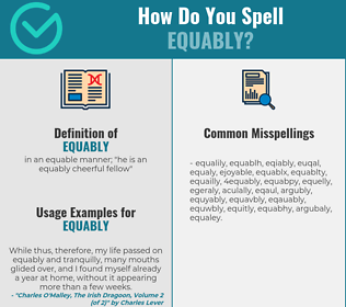 Correct spelling for equably
