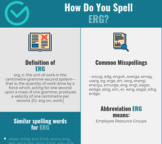 Correct spelling for erg