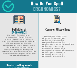 Correct spelling for ergonomics