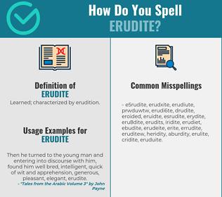 Correct spelling for erudite