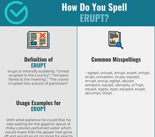 Correct spelling for erupt
