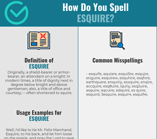 Correct spelling for esquire